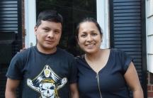 Monica Ruiz and her foster son Bartolo