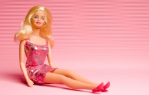 A posed Barbie doll.