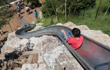 Opening day at the Hills playground on Governors Island.