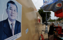cambodia street scene before elections