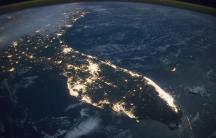 NASA Florida at night