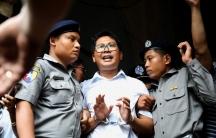 Reuters journalist Wa Lone departs Insein court