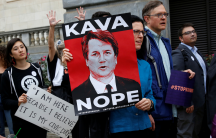 people protesting supreme court nominee brett kavanaugh