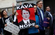 people protesting supreme court nominee brett kavanaugh