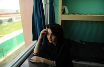 Samaneh Nasiri, a student at the American University of Afghanistan in her dorm room. Nasiri survived an attack on the school in 2016.