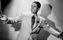 Musician and variety show host Lawrence Welk.