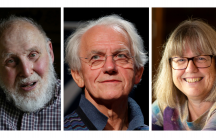 portraits of the three winners of the nobel prize for physics