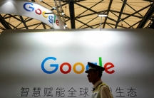 Google sign in shadows at conference in Shanghai