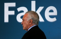 Brazil's President Michel Temer with