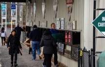 At the Wellesley recycling center, just west of Boston, residents drop their recyclables into 43 different sorting stations.