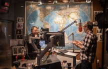 Marco Werman in the studio on the right-hand side facing Ai Weiwei