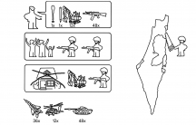 Political cartoon showing the Israeli-Palestinian conflict in the style of Ikea instructions.