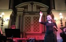 Ana Silvera singing at the Manchester Jewish Museum