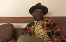 Kenyan musician J.S. Ondara backstage before a recent show in Boston
