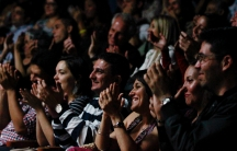 audience at a comedy show in venezuela
