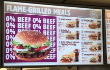 Burger King patrons in St. Louis were greeted by a somewhat confusing menu: A Whopper with no beef.
