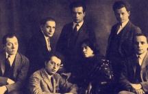 "A 1923 studio portrait of the In zikh (""Introspectivist"") poetry group."