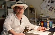 Illustrator Barry Blitt at his home studio in Connecticut