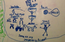 Maxine's portraits of her imaginary friends