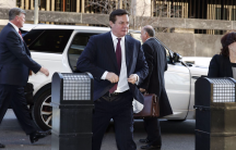 Paul Manafort, former campaign chairman for President Donald Trump, arrives for a bond hearing at US District Court in Washington, Dec. 11, 2017.