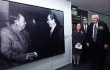 """A 2002 exhibition in Shanghai called """"Journeys to Peace and Cooperation"""" showcases the 30th anniversary of U.S. President Richard Nixon's historic visit to China in 1972."""