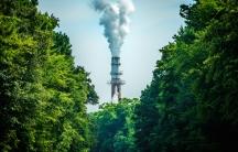 Smokestack and trees