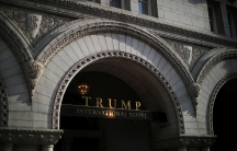 The entrance of Trump International Hotel