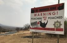 an anti-poacher billboard