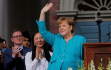 """""""Tear down the walls of ignorance and narrow-mindedness,"""" German Chancellor Angela Merkel told graduates at the 368th commencement ceremony at Harvard University in Cambridge, Massachusetts, May 30, 2019."""