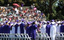 A high school graduation in Northern California