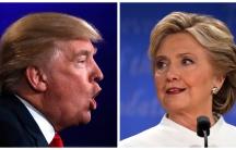 donald trump and hillary clinton at a debate