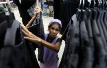 a woman working in a factory in sri lanka