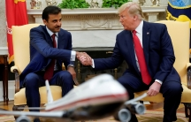 President Donald Trump metwith Qatar Emir Sheikh Tamim bin Hamad Al-Thani