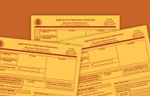 Employment authorization forms