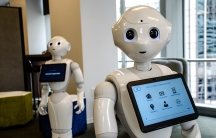 """About 15,000 robots named """"Pepper"""" are used in Japanese and European banks, fast service restaurants, and healthcare settings. Pepper is now in US bank branches too — HSBC has them in select locations to help answer basic customer questions."""