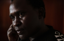 Up close image of Kenyan man wearing black sweatshirt