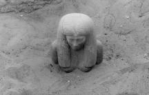 Kerma: Statue of Lady Sennuwy emerging, Dec.16, 1913