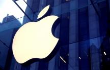 The Apple logo.