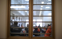 Detained immigrants are seen at Otay Mesa immigrationdetentioncenter in San Diego,May 18, 2018.