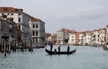 A photo of a gondola in Venice's Grand Canal