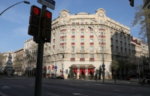 El Palace Hotel in the sunlight in Barcelona