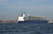 An LNG tanker unloads its cargo at the Port of Yokohama, Japan.