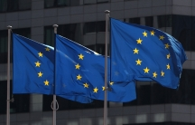 EuropeanUnion flags fly outside theEuropeanCommission headquarters in Brussels, Belgium