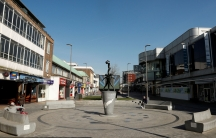 A general view of an empty high street
