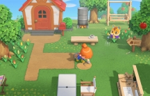 A scene from the video game, Animal Crossing: New Horizons.