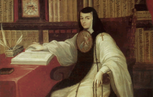 A portrait of a nun writing