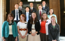 A class of young Mormon missionaries
