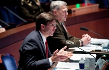 Pentagon officials speak at a hearing