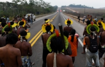 Kayapóindigenouspeople blockBrazil's BR-163 national highway, as they protest against the government measures in theIndigenouslands to avoid the spread of the coronavirus, in Novo Progresso, Parástate,Brazil, August 18, 2020.