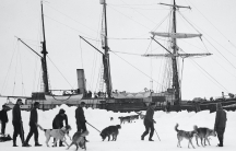 The Endurance, trapped in sea ice along the Weddell Sea.